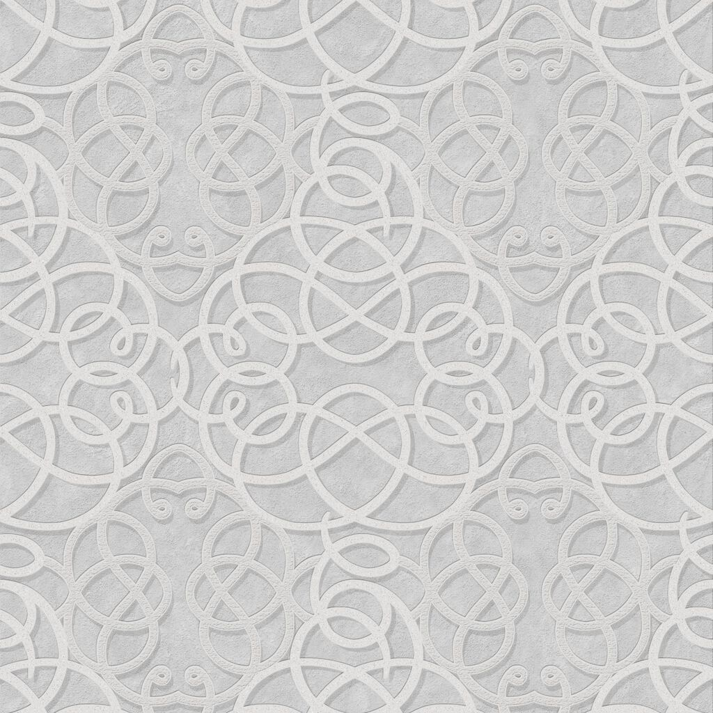 Ribbon Dance Silver Wallpaper, , large