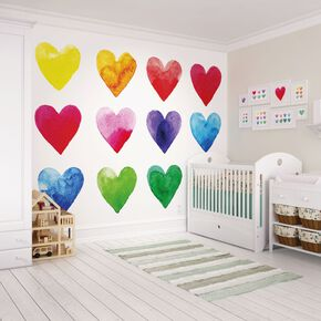 Colour My Heart Wall Ready Made Mural, , large