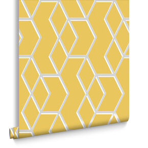 Archetype Yellow & Silver Behang, , large