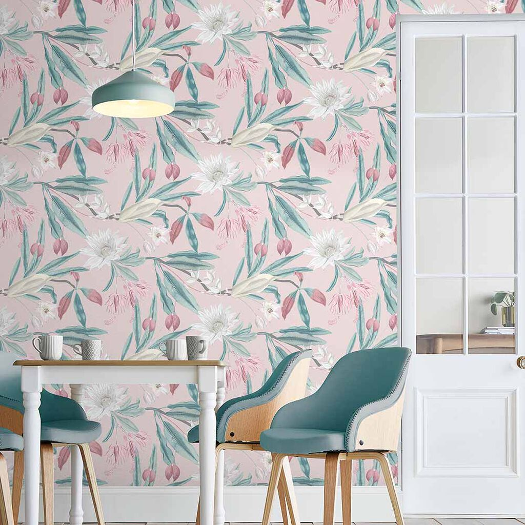 Paradise Blush Wallpaper, , large