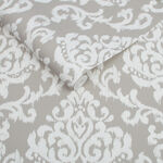 Indian Ink Damask Stone Wallpaper