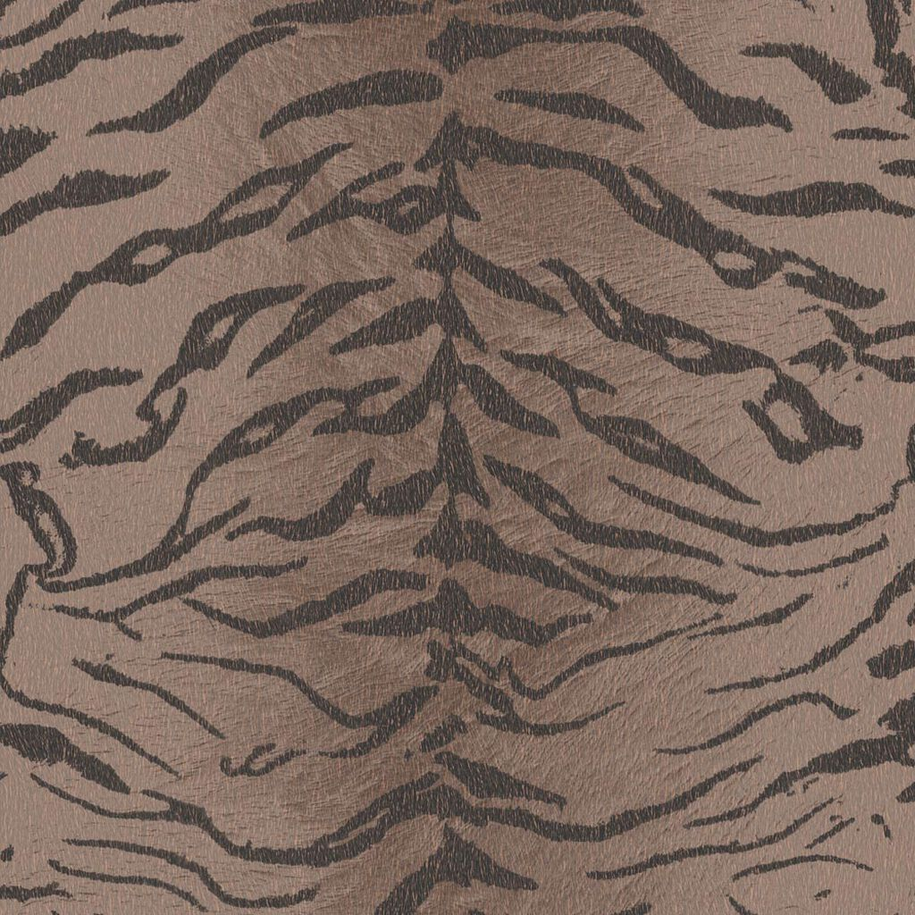 Papier Peint Tiger Marron, , large