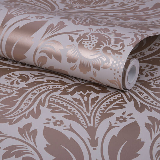 Desire Rose Gold & Mink Wallpaper, , large