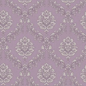 Jacquard Purple and Cream Wallpaper, , large