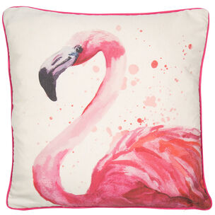 Flavia Flamingo Cushion, , large