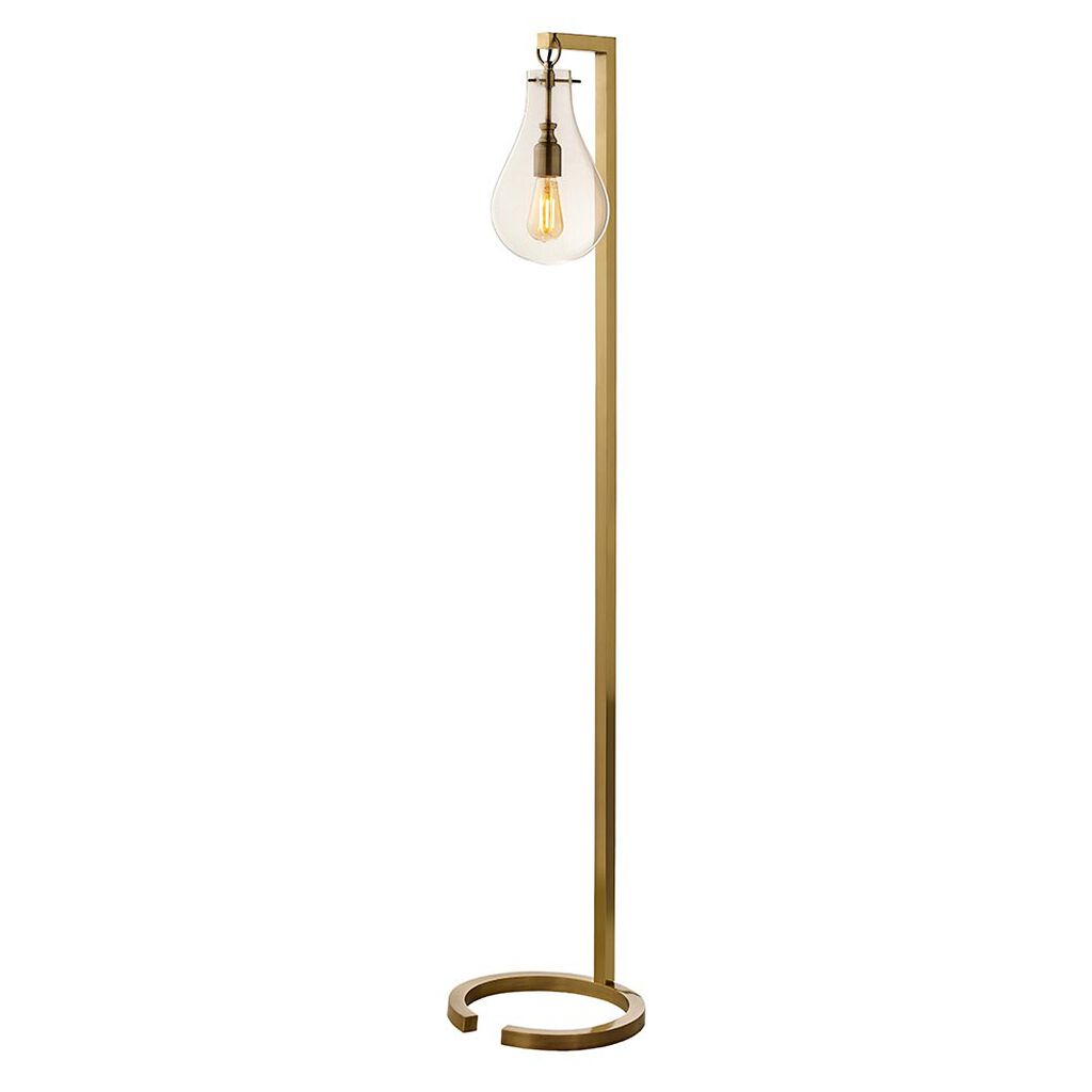 Statement bulb gold floor lamp grahambrownuk for Gold shell floor lamp