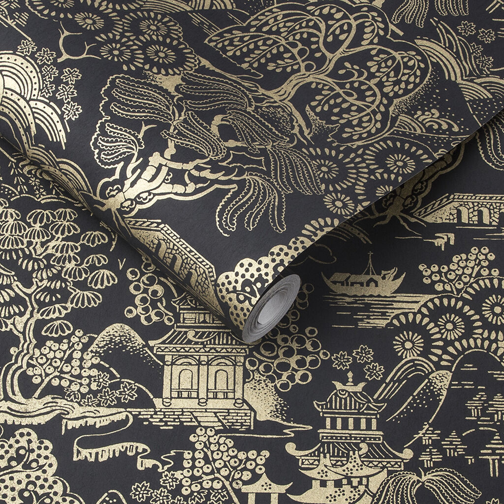 Basuto Black Gold Wallpaper, , large