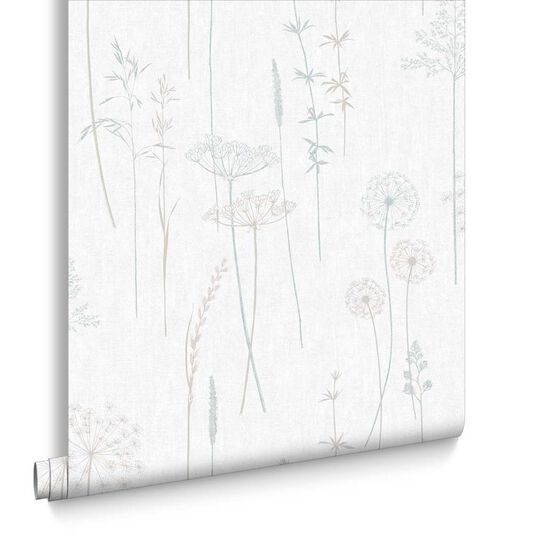 Meadow Duck Egg Wallpaper, , large