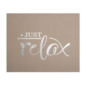 Just Relax Embellished Fabric Canvas Wall Art , , large