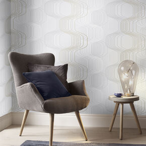 Revival Tempest Gray Wallpaper, , large