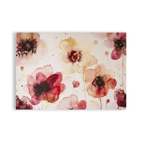 Painterly Blossoms Printed Canvas Wall Art, , large