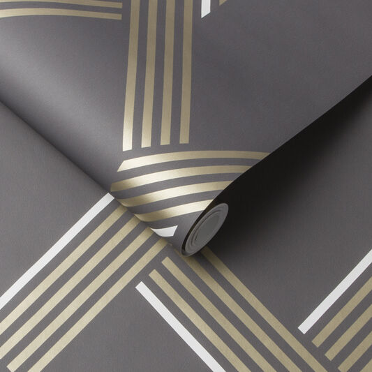Vector Graphite Gold Wallpaper, , large