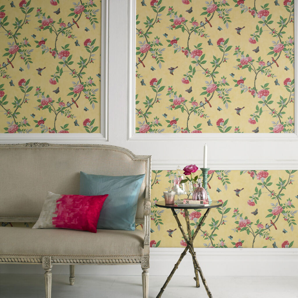 chinoiserie imperial yellow wallpaper graham brown. Black Bedroom Furniture Sets. Home Design Ideas