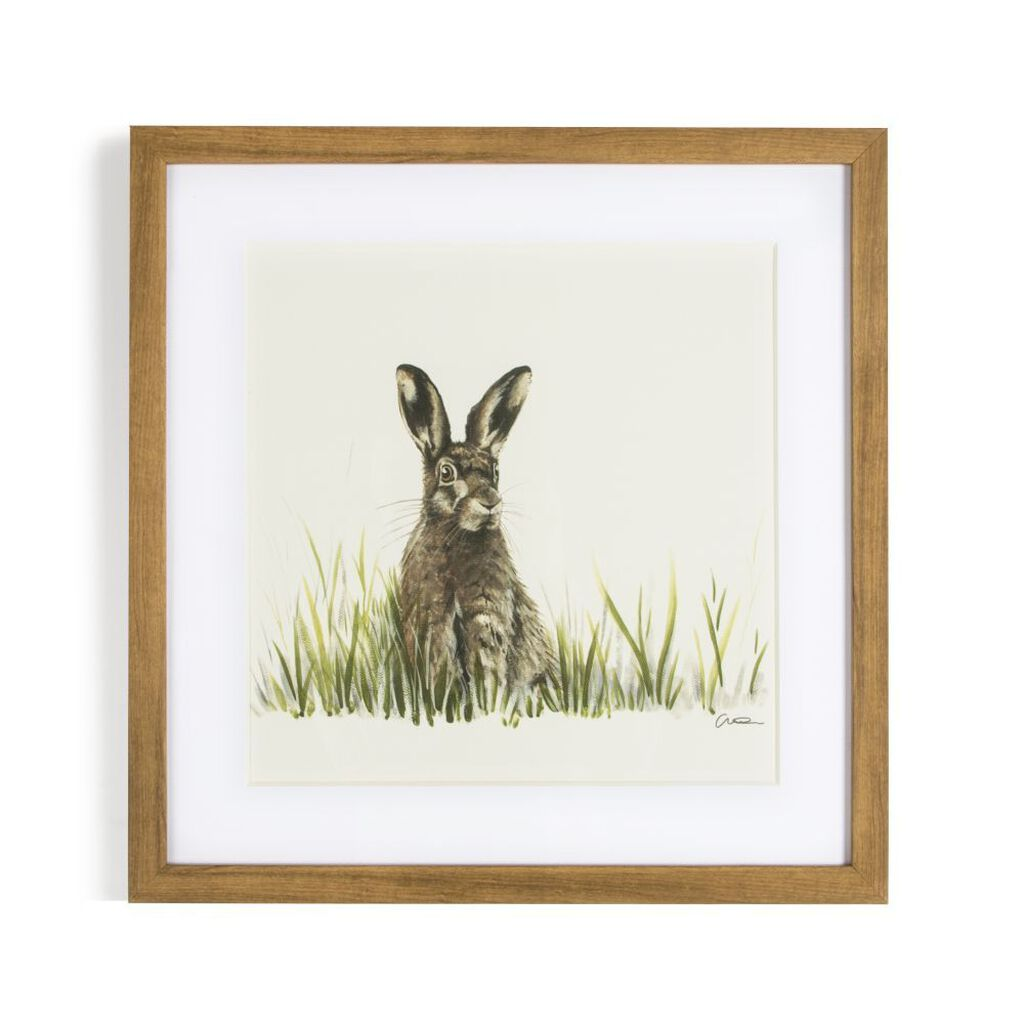 Countryside Hare Framed Wall Art Print, , large