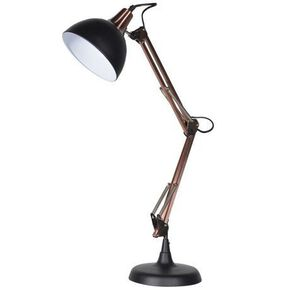 Black and Copper Angled Table Lamp, , large