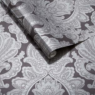 Souk Damask Tapete Onyx, , large