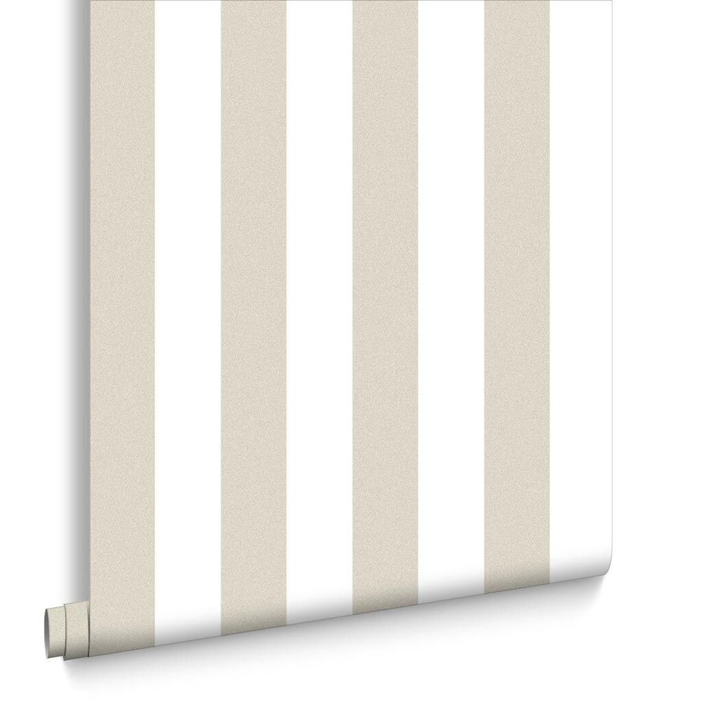 Helen Glitter Stripe Gold & Cream Wallpaper, , large