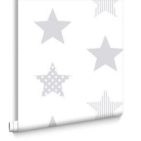 Superstar Silver Behang, , large