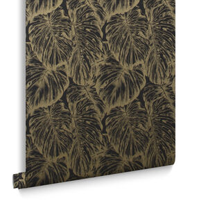 Papier Peint Tropical Charbon, , large