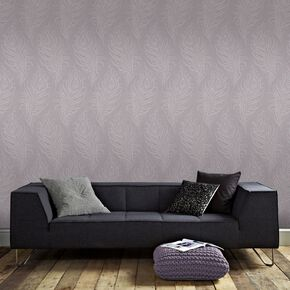 Quill Mulberry Wallpaper, , large