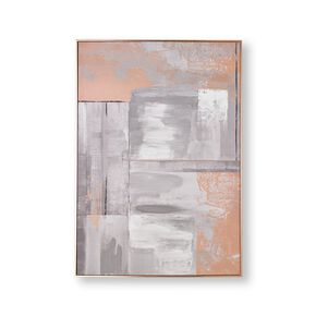 Rose Gold Glow Framed Canvas Wall Art, , large