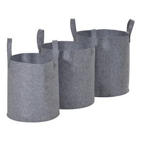 Set de 3 Paniers de Rangements Gris, , large