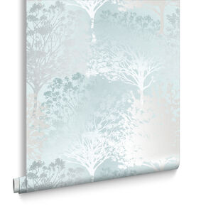 Grove Duck Egg Wallpaper, , large
