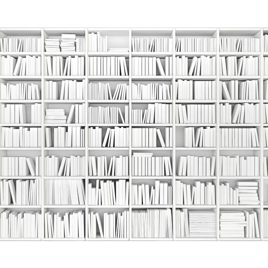 Papier Peint Panoramique Library White Wall, , large