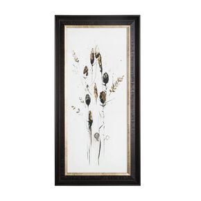 Bloom Seed Head Metallic Framed Art, , large