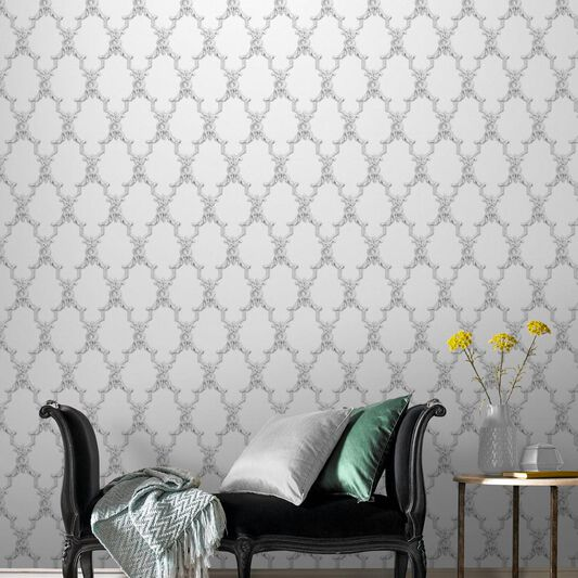 Boulevardia White Wallpaper, , large
