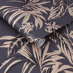 Palma Soft Gold and Notte Wallpaper