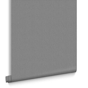 Shadow Charcoal  Plain Wallpaper, , large