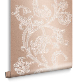 Xanadu Rose Gold Wallpaper, , large