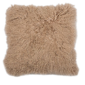 Warm Taupe Mongolian Cushion, , large