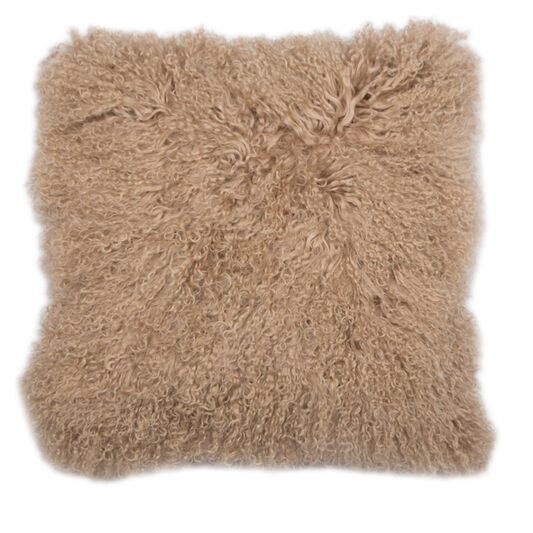 Warm Taupe Mongolian Kissen, , large