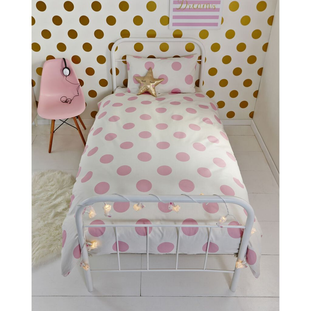 Pink Dotty Duvet Cover, , large