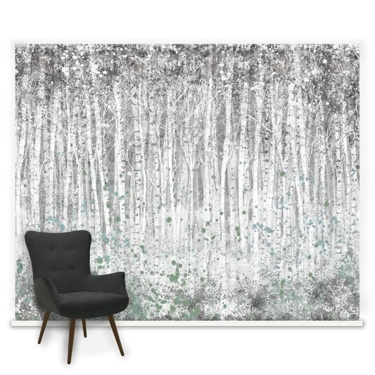 Couture Painterly Woods Ready Made Mural, , large