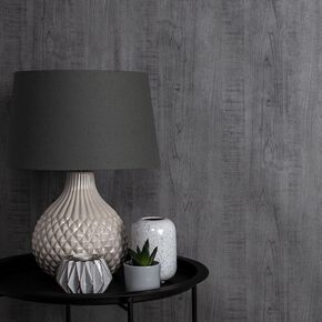 Wood Grain Gray Wallpaper, , large