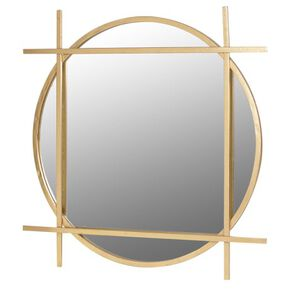 Deco Geometric Gold Mirror, , large