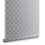 Trelliage Bead Silver Wallpaper, , large