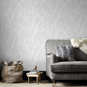 Innocence Grey Wallpaper, , large