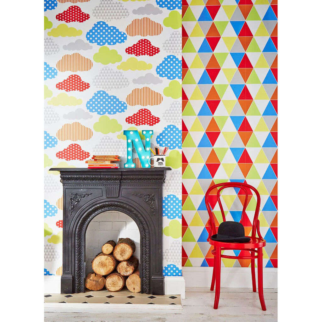 Marshmallow Brights Wallpaper, , large