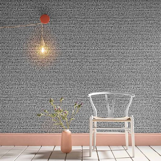 Dots Black & White Wallpaper, , large