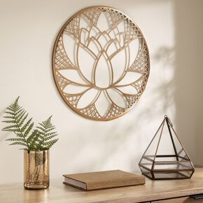 Copper Lotus Blossom Metal Wall Art , , large