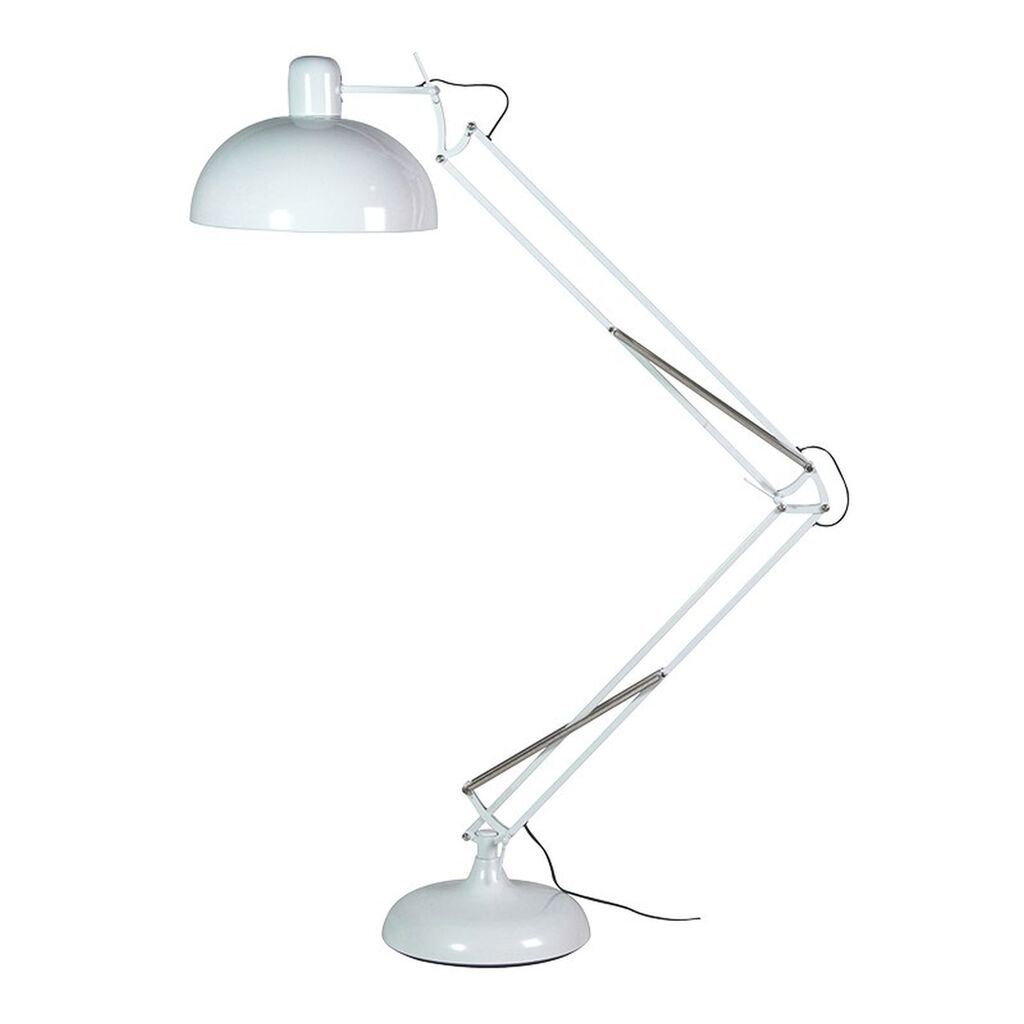 White Angled Floor Lamp, , large