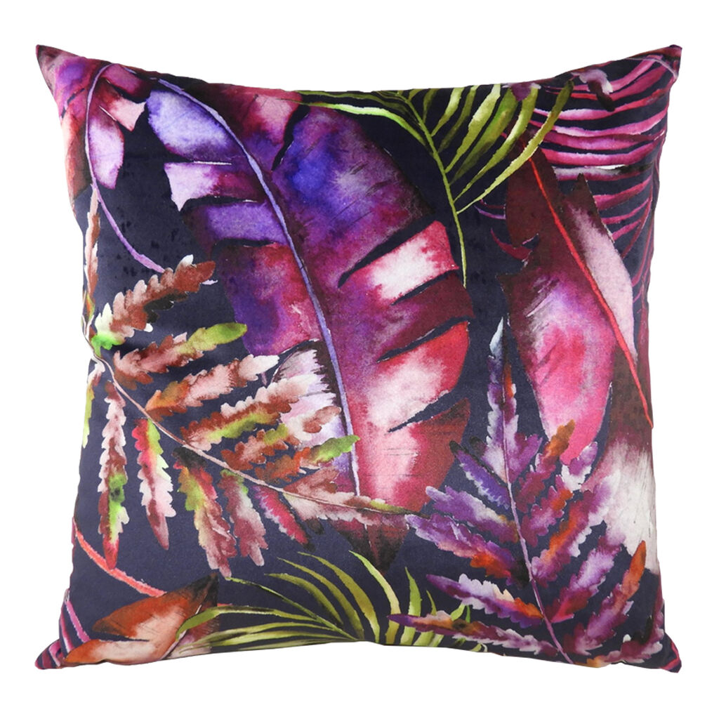 Paradise Purples Tropical Cushion, , large