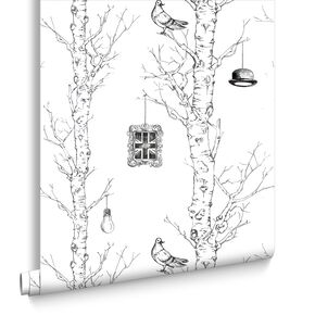 Eccentric Black and White Wallpaper, , large