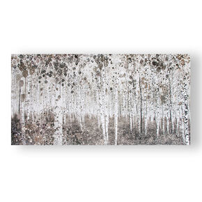 Neutral Watercolour Woods Printed Canvas Wall Art, , large