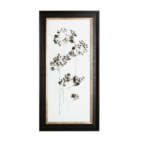 Botanical Seed Head Metallic Framed Wall Art , , large