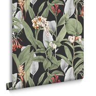Botanical Black Wallpaper, , large